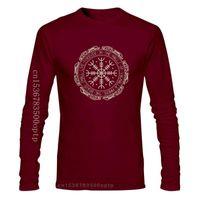 Bir Yona 2021 Yaz Pamuk Erkekler Moda Baskı T Gömlek Mens Kısa Kollu Hip Hop Klasik Viking Valhalla Odin T-shirt erkek T-Shirt