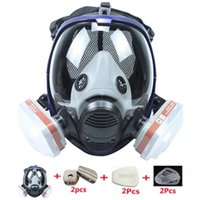 Tactical Hood Mask 6800 7 In 1 Gas Dustproof Respirator Paint Pesticide Spray Silicone Full Face Filters For Laboratory Welding