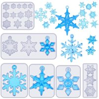 Pieces Snowflake Resin Molds DIY Silicone Casting Soap Mold Epoxy Mould For Crafts Necklace Earrings Baking & Pastry Tools