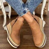 Platform Chelsea Women Boots Fashion Goth Casual Wedges Botas 2022 Winter Warm Ankle Snow Designer Mid Heels Woman Shoes 211021