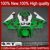 Corpo de carroçaria para Kawasaki Ninja ZX-750 ZX7R ZX750 ZX 7 R New Zx 750 28hc.166 Fábrica Green ZX 7R 1996 1997 1998 1999 2000 2001 2002 2003 ZX-7R 96 97 98 99 00 01 02 03 Fairing OEM