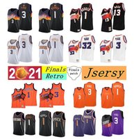Jerseys de baloncesto cosido personalizado Devin 1 Booker Chris 3 Paul 22 Ayton 25 puentes Malla Retra 13 Nash 34 Barkley 31 Marion 32 Kidd White Black Valley Finals Jersey