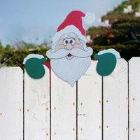 Decorazioni natalizie Santa Claus Recinzione Peeker Decorazione Festività all'aperto per l'occasione Miniature Home Garden Tree Wedding
