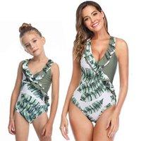 어머니 수영복 비키니 여름 엄마와 미 수영복 레이스 가족 일치하는 옷 엄마 딸 수영복 210417