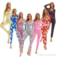 Women jumpsuits rompers Sexy Desinger Bodysuit Workout Button Skinny Print Long Sleeve V-neck Onesies Plus Size Ladies DHL