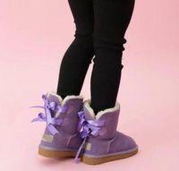 الأطفال الاستمرار الدافئة 2 الانحناء أحذية جلد طبيعي الصغار أحذية الثلوج الصلبة botas دي نيف الشتاء الفتيات الأحذية طفل الفتاة الصبي الأحذية 08