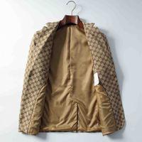 Men's customized formal high-quality jacket suit one-click plaid lapel best man men's dinner prom suit blazer