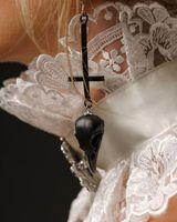 Dangle & Chandelier Black Animal Skull Inverted Cross Earrings Satanic Earrings, Gothic