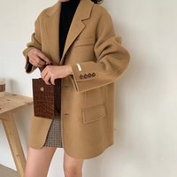 Double Sided Cashmere Coat Women' s Short Professional S...