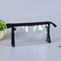 Clear Travel Toiletry Bag Transparent Waterproof Wash Shaving Skin Care Items Cosmetics Makeup Storage Zipper Pouch FWE10389