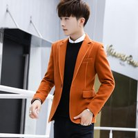 Men's Suits & Blazers Fashion Mens Wool Blend Slim Fit One Button Jacket Autumn Winter Short Coats V045