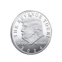 2024 트럼프 기념 동전 미국 미국 선거 공예 컬렉션 골드 도금 더블 컬러 철 동전 HHA6595