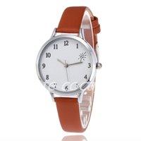 5pcs Belt women's quartz watch digital heart-shaped surface simple decorative fashion watch1