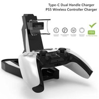 Charging Dock For PS5 Gamepad Stand Holder Charger Type-C Dual Handle Wireless Controller Gaming Console Accessories Game Controllers & Joys