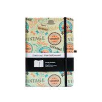 Retro ponto grade alinhado liso liso bloco de notas Hard Capa A5 Pu Xmas Bala Notebook Banda Elástica Dotted Journal Bujo Suporte Personalizar