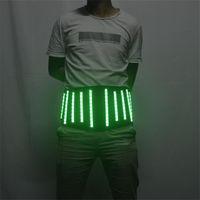 Party Dekoration P17 Ballroom Dance LED Light Gürtel RGB Bunte Kostüme Roboter Outfits DJ trägt Leuchtendkleid