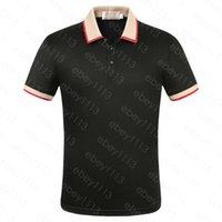 Mens Polo T рубашка для бизнеса и досуга летом классический тонкий дышащий причинно-следственный рукав M-3XL
