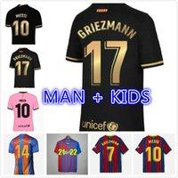 21/22 Barca Ansu Fati Soccer Jerseys Formación 2021 Messi Griezmann F.De Jong Couteinihoha Alba Braithwaite Men Kits Kits Football Jersey