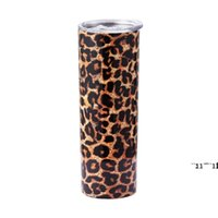 Skinny 20oz Stainless Steel Blanks Tumbler Double Wall Vacuum Insulated Beer cup Coffee Mugs Straw Seal Lid Water Drinking SEAWAY RRF10952