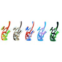 Knight smoking water pipes hookah glass beaker bongs silicone bubbler dab rig pipe