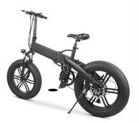 [ABD Stok] M012 Katlanabilir Elektrikli Bisiklet 20 Inç Lastik Ebike 500 W DC Motor 35km / H Çıkarılabilir Pil Dağ Bisikleti