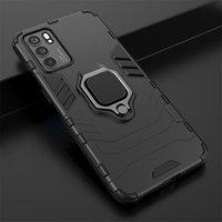 Прочный жесткий ПК + гибкий кремниевый бампер Bamper BaMer задний телефон для OPPO RealMe V11 7i C17 A93 A74 5G A55 Reno 5 Pro Plus Найти X3 Neo Lite A15 A35