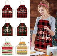 Linen Merry Christmas Apron Christmas Decorations for Home Kitchen Accessories New Year Christmas Gifts SEAWAY HWF9999