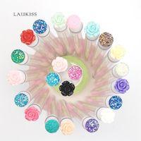 Pinceaux de maquillage 50pcs Type de brosse à sourcils Tube à sourcils Tête de l'outil Réutilisable Diamant ou Fleur Tête