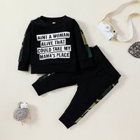 طفل الفتيان قمم + Trorsers itsfits خريف 2020 الاطفال ملابس للولايات المتحدة 0-12 متر الرضع طفل الأزياء 2 قطعة مجموعة ملابس الطفل أنيقة