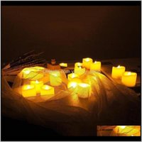 Décor & Garden12Pcs 24Pcs Flameless Led Candles Light Battery Operated Flickering Home Decor Drop Delivery 2021 Uenam
