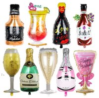 Büyük Helyum Balonlar Düğün Doğum Günü Partisi Dekorasyon Şampanya Goblet Viski Bira Şekilli Balon Yetişkin Çocuklar Olay Malzemeleri HHF7536