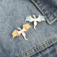 Paint Drop Enamel Alloy Dargon Brooches Cartoon Animal Knapsack Collar Pins Unisex Children Anti Light Buckle Clothing Badge Jewelry Accessories Wholesale