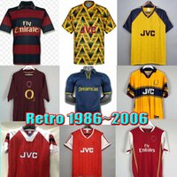 Retro Soccer Jersey Highbury Arsen Home Football Hemd Pires Henry Reyes 02 03 05 06 98 99 Bergkamp 94 95 Adams Persie 96 97 Galla 86 87 89 2000 2006 Männer Kits Uniformen