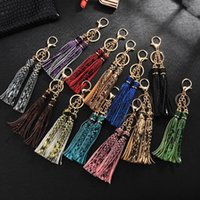 Keychains PU Leather Snake Tassel Pendant Cute Keychain For Women Fashion Jewelry Bag Charm Accessories Gift Ring Gold Color 2021
