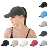 Criss Cross Ponytail Hats Washed Mesh Back Messy Bun Baseball Caps Quick-drying Breathable Trucker Hat CYZ3131