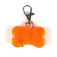 Pet Pendant Cute Dog Blinking Collar Buckle Bone Shaped LED Flashing Night Light Drop Collars & Leashes