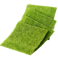 Artificial Grass Lawn 15*15cm Fairy Garden Miniature Gnome Moss Decoration Resin Crafts Bonsai Home Decor For DIY Faux Fur GYL96