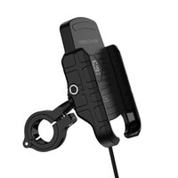 Держатели мотоцикла для мобильных телефонов Мотоцикл Держатель 15W Беспроводное зарядное устройство для подставки для мобильного телефона на Android руль кронштейна клип