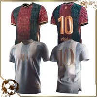 아르헨티나 축구 유니폼 팬 플레이어 버전 2021 Copa America Messi Dybala Aguero 축구 셔츠 남성 + 키트 키트 세트 유니폼 20 21
