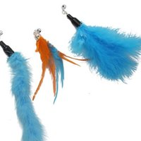 Cat Toys Stick retrattile con campana Piuma divertente giocattolo interattivo a tre sezioni canna da pesca