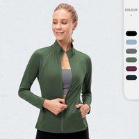 Sport Women's Jacket Long Sleeve Zipper Yoga Coat Elastic Fitness Gym Clothing Running Quick Dry Training Energy Top
