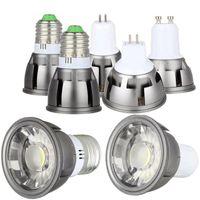 Ampoules LED Spotlight E27 E14 GU10 GU5.3 MR16 MR16 DIMMABLABLE 3W 5W 7W COB Lampes élevées