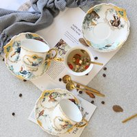 Mugs Bone China British Royal Mug Jungle Ceramic Creative Luxury Flower Cup Gift Box Simple Coffee Cups Kitchen Drinkware Tazas 2021