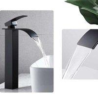 Bathroom Sink Faucets Black Square Paint Faucet Washbasin Basin Cold Mixer Tap Single Hole Kitchen Items