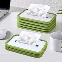 NEWSilicone Tissue Box Household Sundries Flexible Car Napkin Organizer Holder For Dining Table Living Room Desktop Households Pumping EWD67