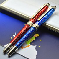 Promotion High quality Petit Prince Dark Blue Rollerball pen Writing Smooth Ballpoint pens stationery office school supplies with Serial Number
