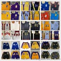 Mitchellness Rale Steins Basketball Jerseys Los 24 Angeles 8 BlackMamba 96-97 00-01 07-08 08-09 09-10 Maderas de la estrella Hardwoods Classic Retro Jersey y simplemente Pantalones cortos XS-XXL
