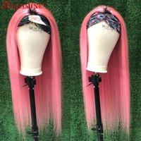 Gerade 1b Rosa Stirnband Perücke Brazilian Remy Human Hair Perücken Für Frauen Ombre Glueless Spitze