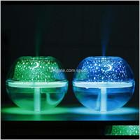 Artículos de novedad Lámpara de cristal USB Proyector de 500 ml Humidificador de aire Desktop Difusor Difusor de la niebla ultrasónica Luz de noche de la niebla para el hogar Zza388 z HQ7K5