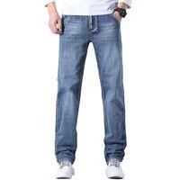 Männer Jeans Klassische Stil Vintage Blaue Stretch 2021 Herbst und Winter Regular Fit Baumwolle Denim Pants Männliche Marke Hosen